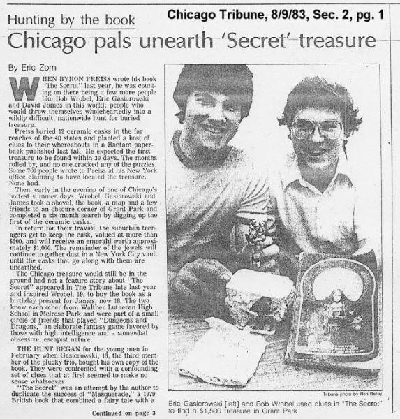 바이런의 보물열쇠를 발견한 두 청년