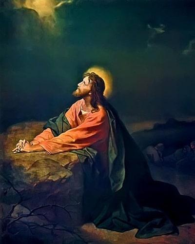 겟세마네에서 기도하는 예수